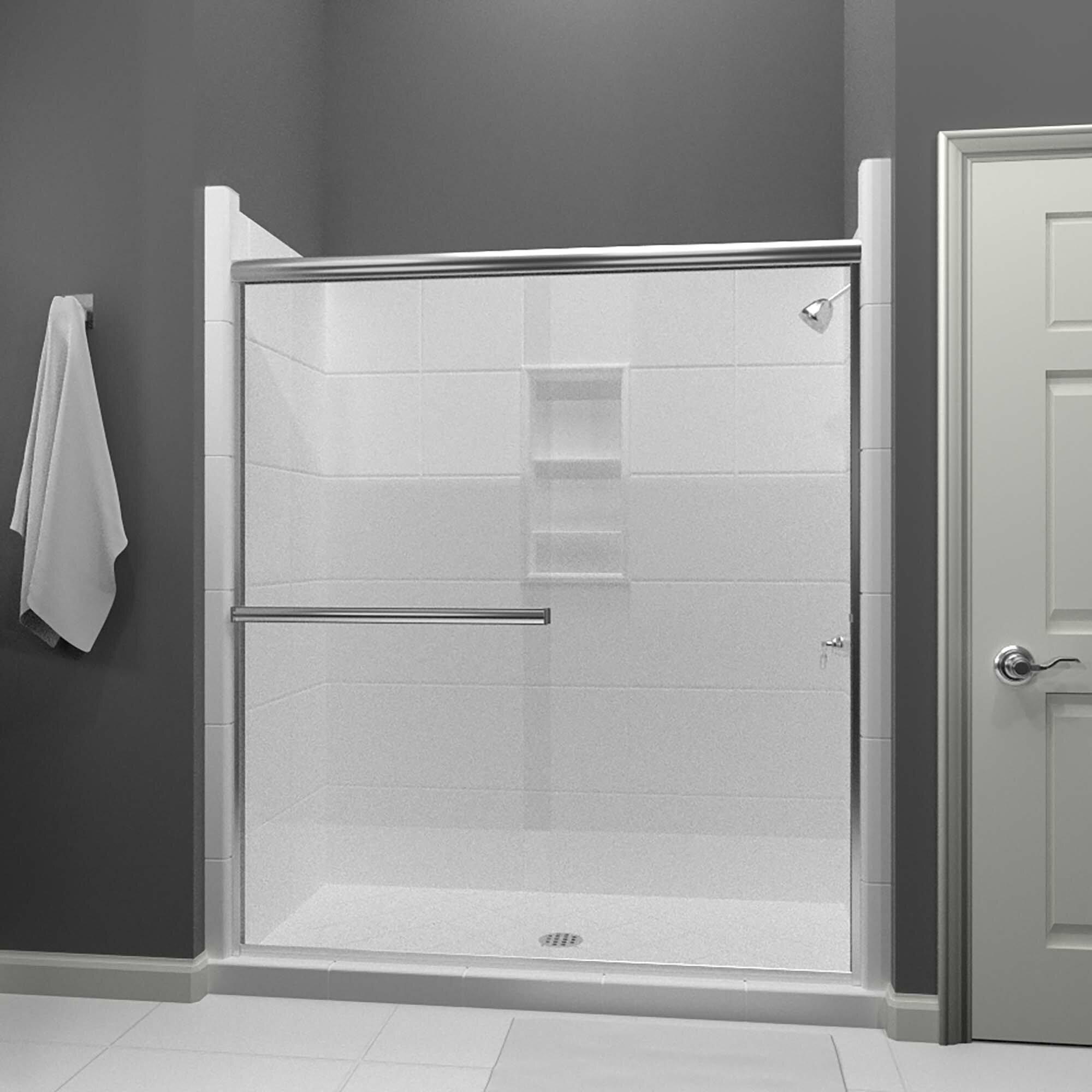 Lese 48 X 70 Bypass Semi Frameless Shower Door