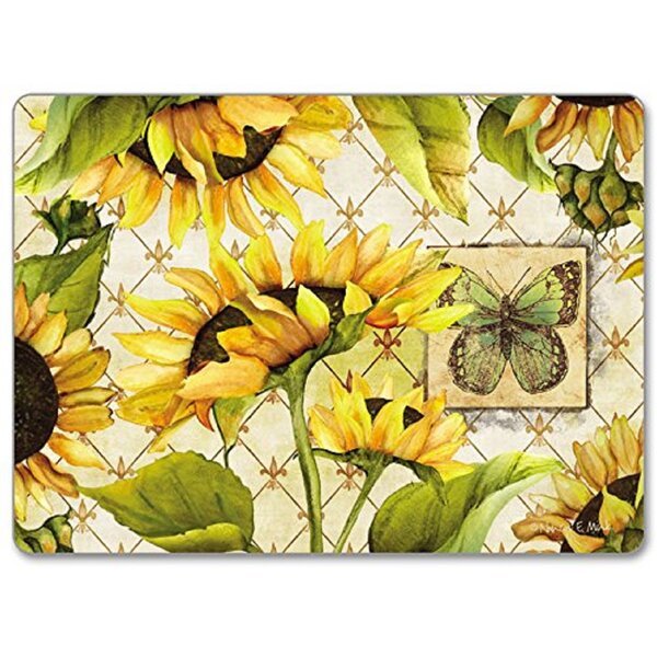 Sunflowers in Bloom Hardboard Placemat (Set of 2) by CounterArt