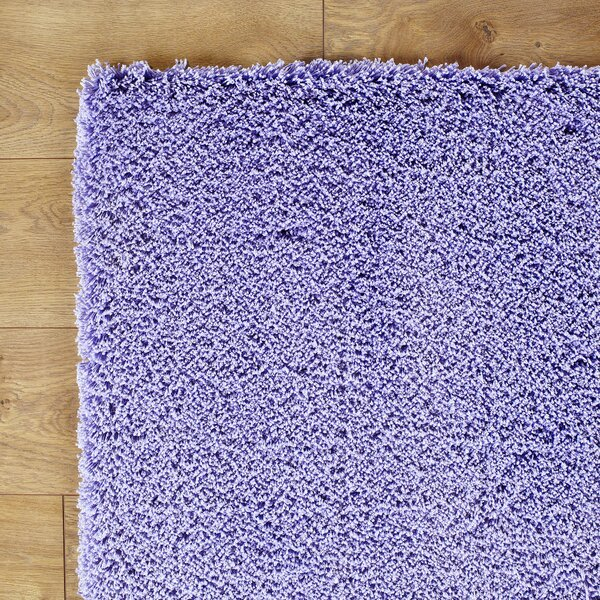 Shaggy Hand-Woven Purple Area Rug by Birch Lane Kids™