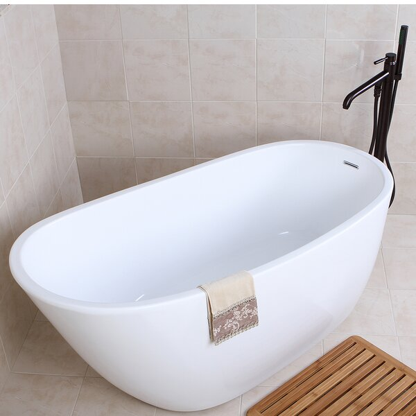 Aqua Eden 59 x 28.6 Soaking Bathtub by Kingston Br