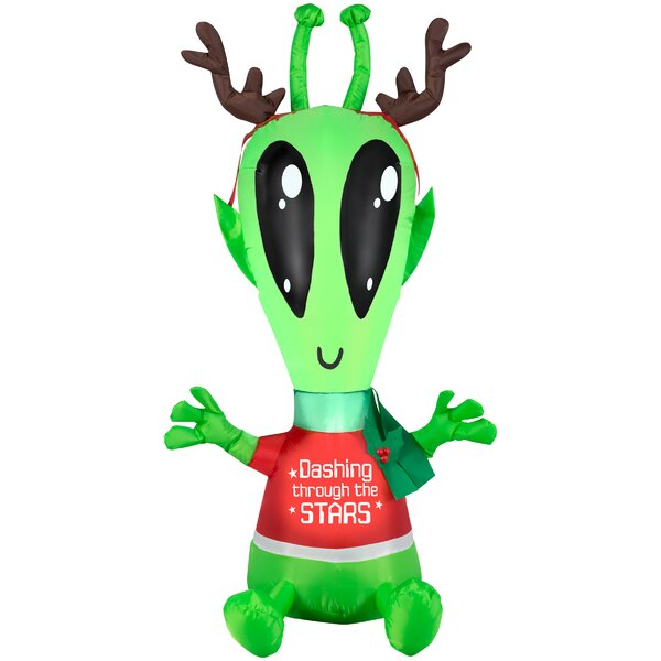 Airblown Outdoor Spacekins with Antlers Small Inflatable by The Holiday Aisle