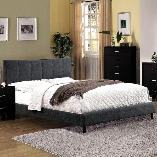 Lonoke Upholstered Platform Bed by Ebern Designs