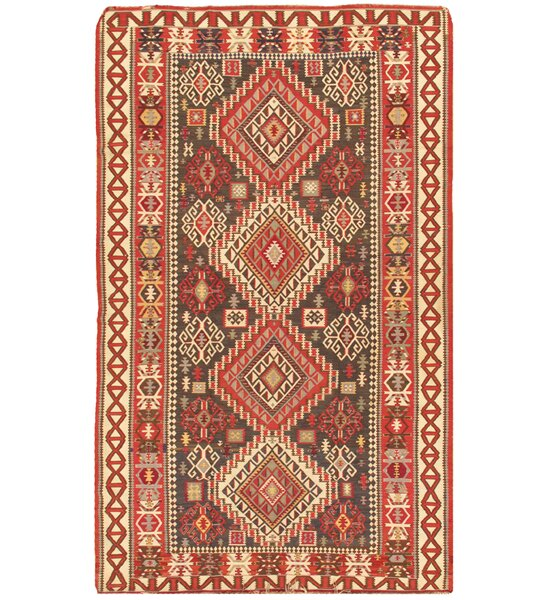 Kilim Antique Hand Woven Brown/Ivory Wool Area Rug by Pasargad