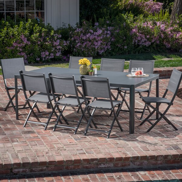 Bayviewpark 9 Piece Dining Set by Latitude Run