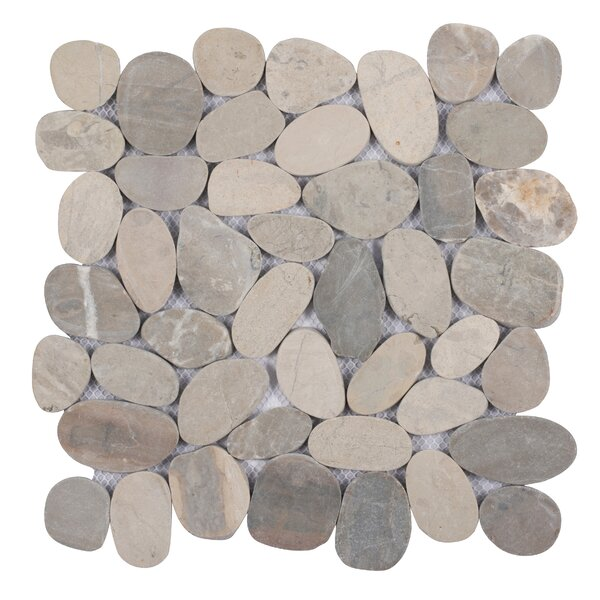 Sliced Natural Stone Mosaic Tile in Gray by Pebble Tile