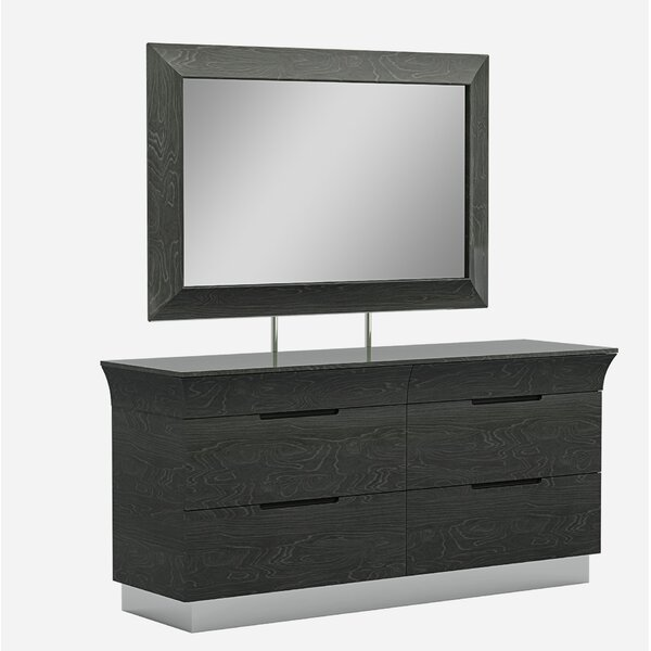 Sifuentes 6 Drawer Double Dresser with Mirror by Orren Ellis