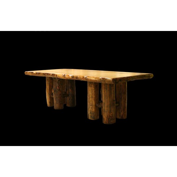 Amias Stump Base Solid Wood Dining Table by Millwood Pines