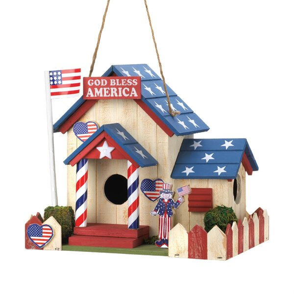 All American 7 in x 8.5 in x 6.5 in Birdhouse by Zingz & Thingz