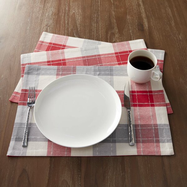 Goodhue 13X19 Woven Nordic Plaid Placemat (Set of 6) by Laurel Foundry Modern Farmhouse