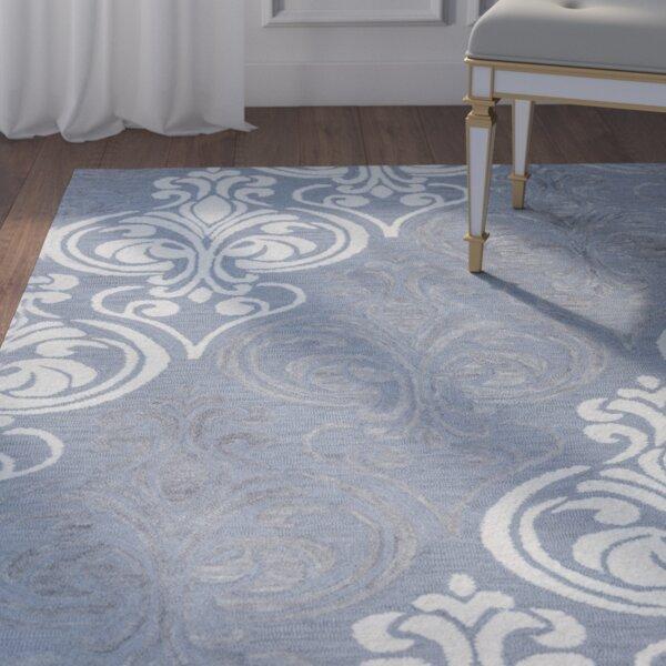 Jasper Hand-Tufted Blue/Gray Area Rug by Willa Arlo Interiors