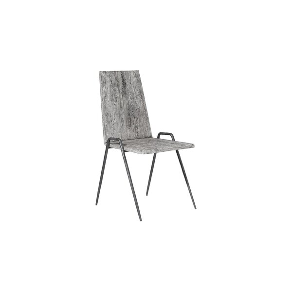 Solid Wood Solid Back Side Chair in Gray by Phillips Collection Phillips Collection