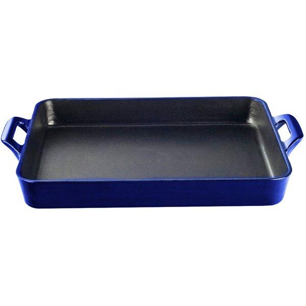 Shallow Cast Iron Roasting Pan by La Cuisine