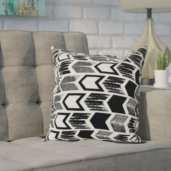 Waller Arrow Geometric Outdoor Throw Pillow by Ivy Bronx