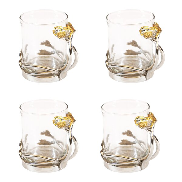 Poppy Glass Tea Cup (Set of 4) by Leila's Home Living