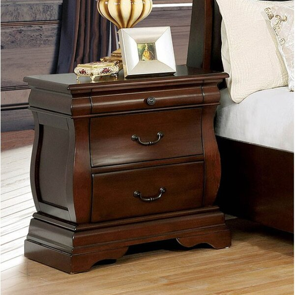 Reina 2 Drawer Nightstand by Charlton Home