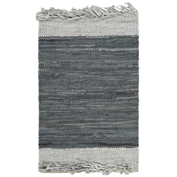 Glostrup Hand Knotted Light Gray Area Rug by Bungalow Rose