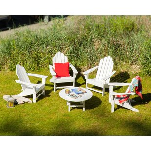 Long Island Adirondack 5-Piece Conversation Group By POLYWOOD®