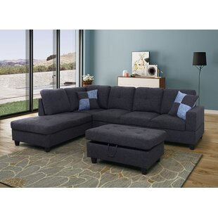 Spear Sectional with Ottoman Ebern Designs