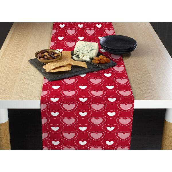 Espinal Hearts in Stitches Table Runner by The Holiday Aisle