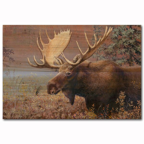 Chocolate Moose by Scott Zoellick Painting Print Plaque by WGI-GALLERY