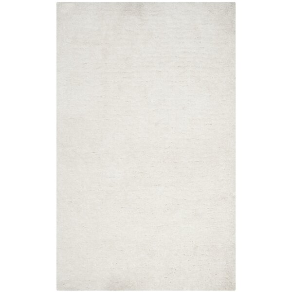 Page Ivory Shag Area Rug by Wade Logan