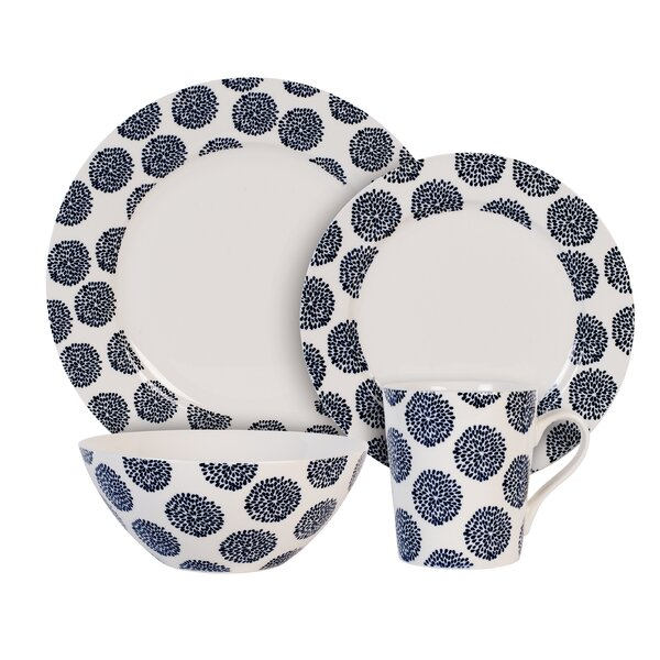 Flower 4 Piece Place Setting, Service for 1 by Maxwell & Williams