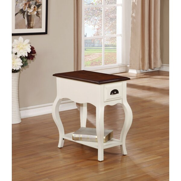 Hodges End Table with Storage by August Grove