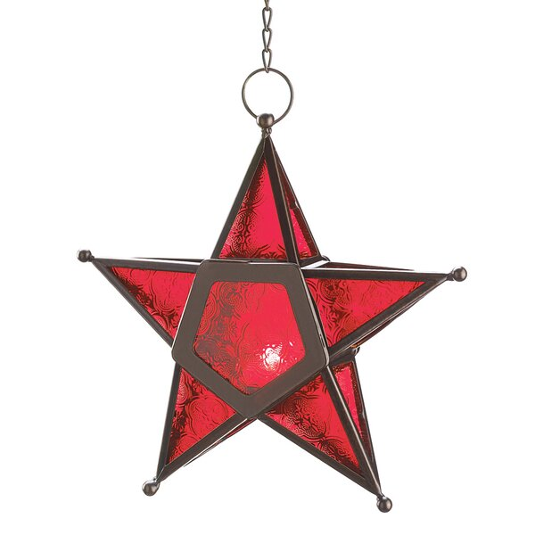 Red Star Candle Lantern by Zingz & Thingz