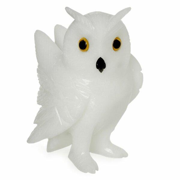 Alpine Owl Hand-crafted Brazilian Gemstone Owl Figurine by Novica