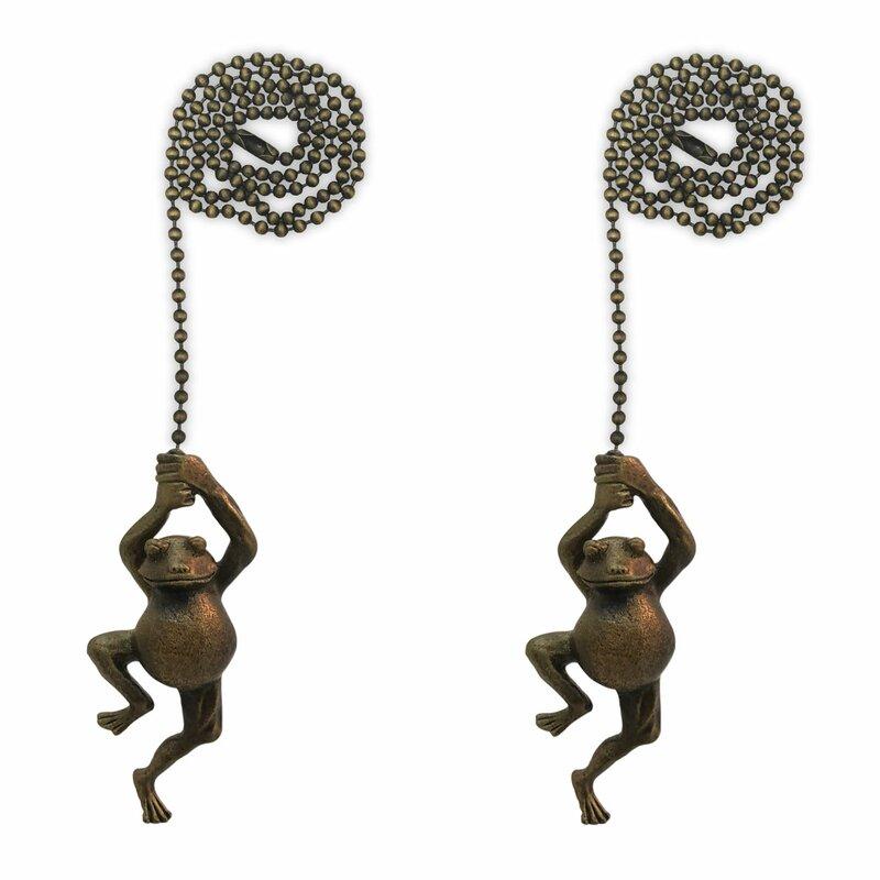 Swinging Frog Ceiling Fan Pull Chain