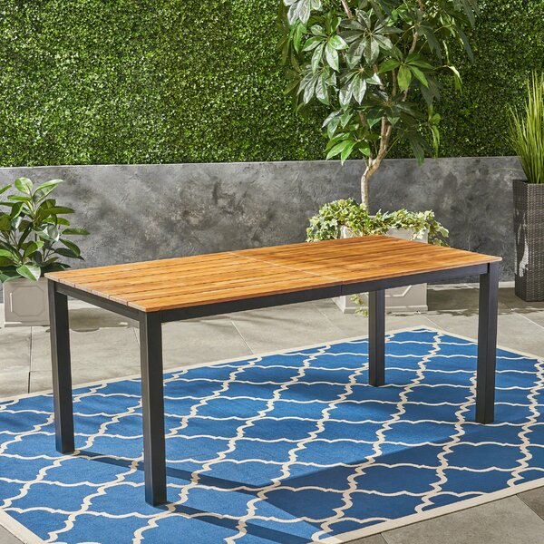 Corinne Solid Wood Dining Table by Millwood Pines