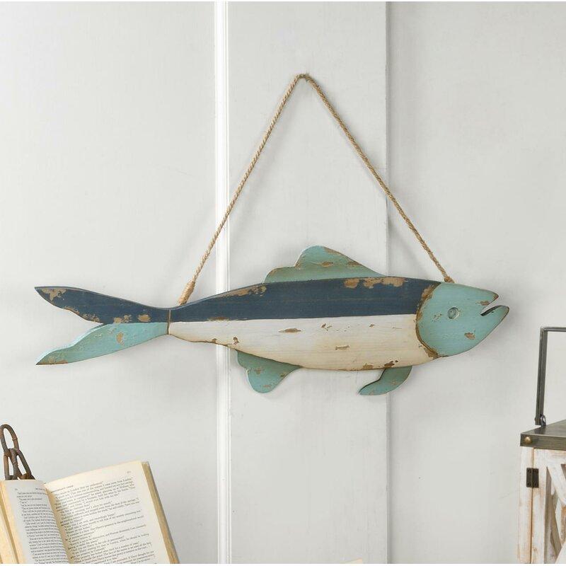 Highland Dunes Decorative Wooden Fish Wall Decor   Wayfair