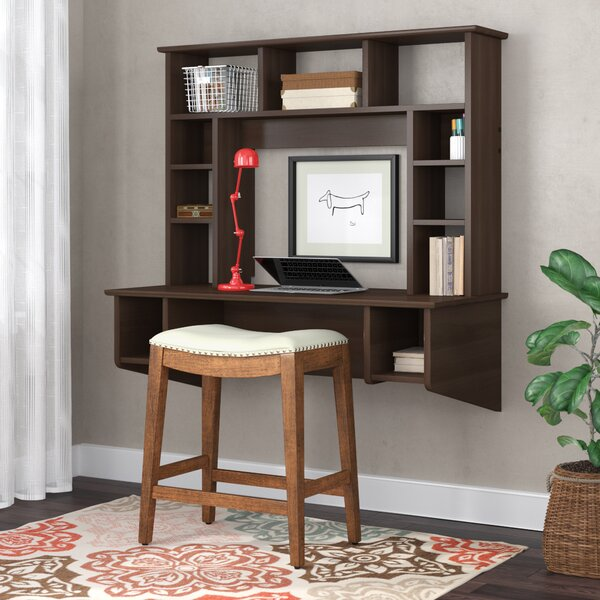 Yards Studio Floating Desk with Hutch by Red Barre