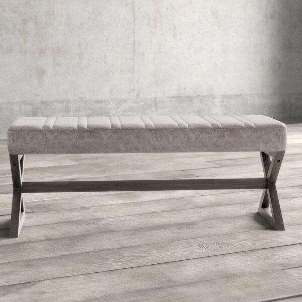 Cular Faux Leather Bench by Williston Forge