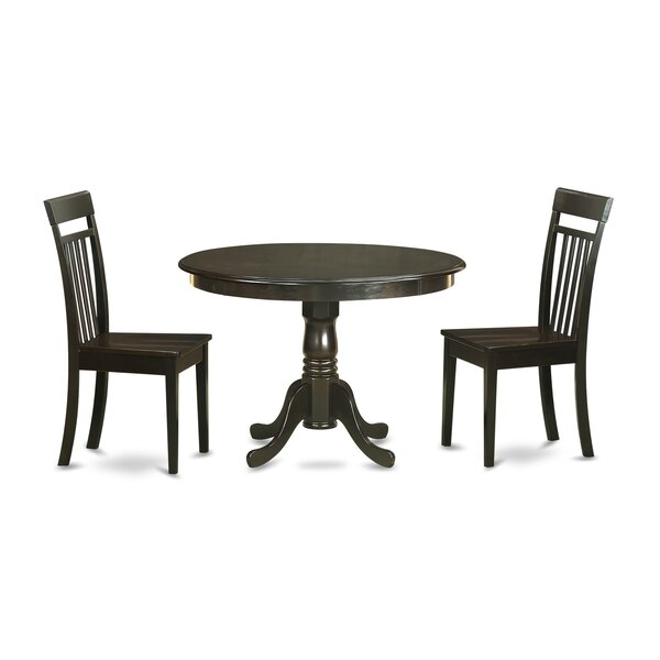 Travis Solid Wood Dining Set By August Grove