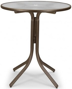 Glass 36 Round Bar Height Dining Table by Telescope Casual