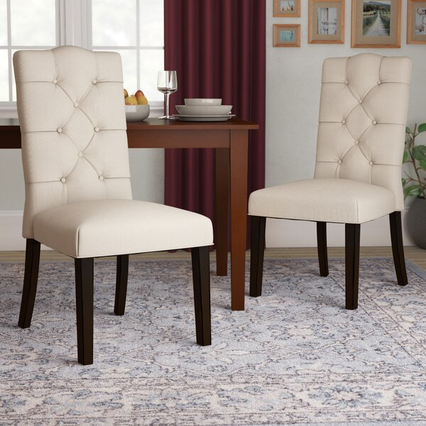 Rockville Upholstered Dining Chair (Set of 2) by Three Posts