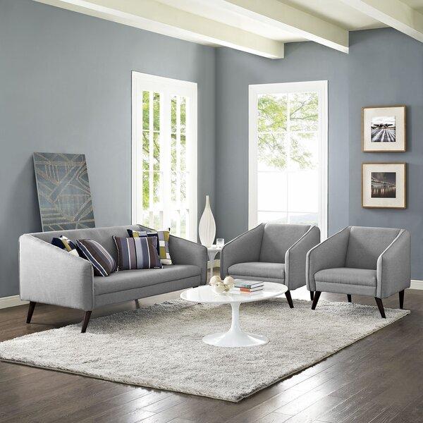 Mattern 3 Piece Living Room Set By George Oliver