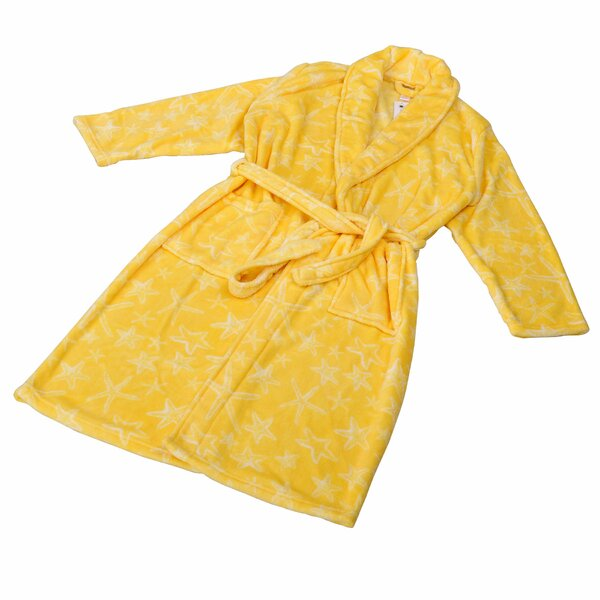 Starfish Flannel Fleece Bathrobe by Home Soft Thin
