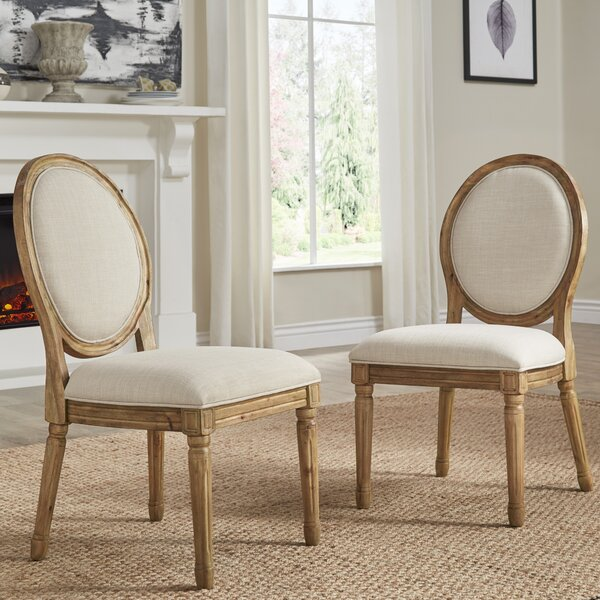 Lachance Round Upholstered Dining Chair (Set of 2) by Ophelia & Co.