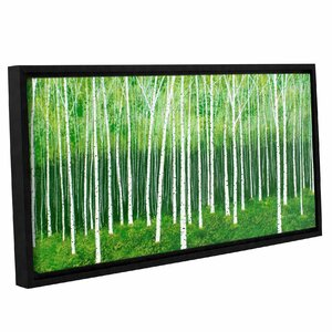 Deep Forest 2 Framed Painting Print on Wrapped Canvas by Red Barrel Studio