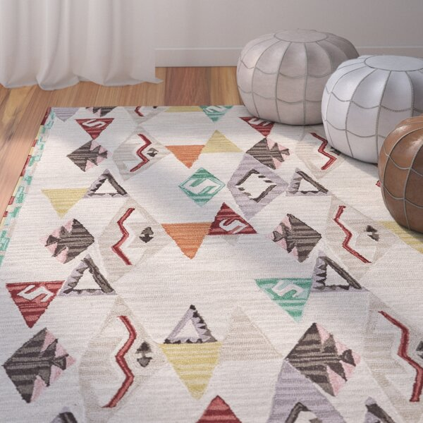 Pacifica Hand-Tufted Beige/Brown Area Rug by Bungalow Rose