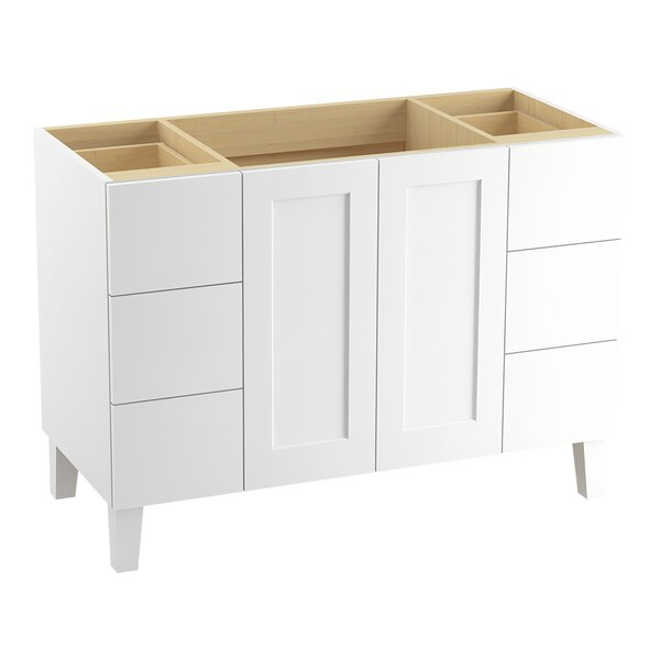 Poplin Tones 48 Vanity with Furniture Legs, 2 Doors and 6 Drawers, Split Top Drawers by Kohler