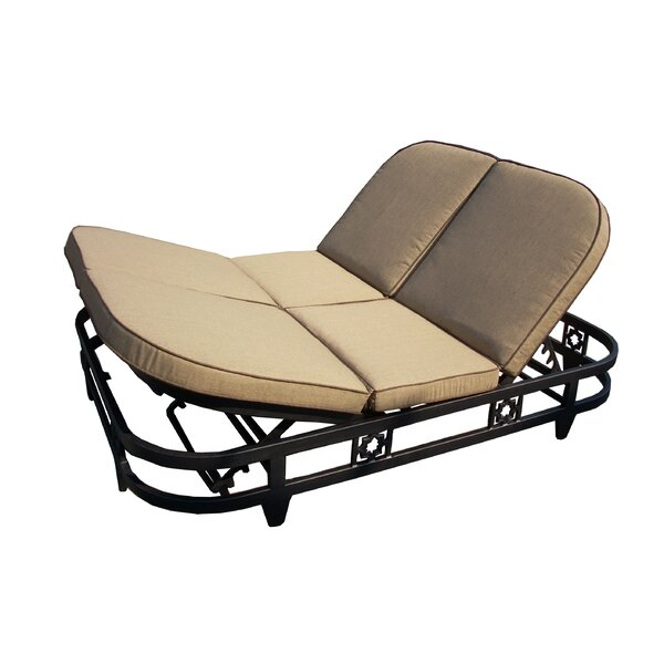 Aldrich Double Reclining Chaise Lounge with Cushion by Darby Home Co