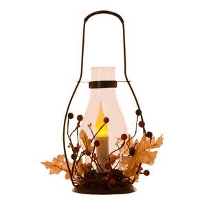 LED Iron/Glass Lantern