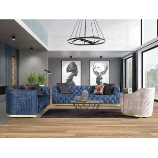 Cecillia 3 Piece Living Room Set by Everly Quinn