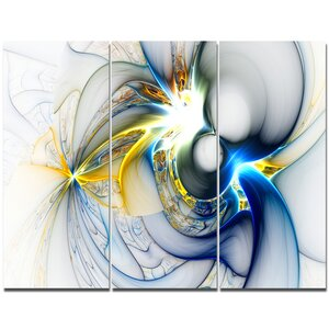 'Shining Multi-Colored Plasma' Graphic Art Print Multi-Piece Image on Canvas by Design Art