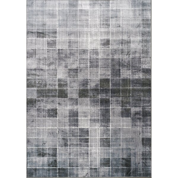 Robblee Squares Gray Area Rug by Orren Ellis