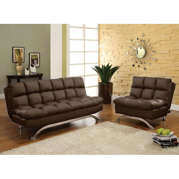 #2 Javier Futon 2 Piece Living Room Set By Orren Ellis New Design