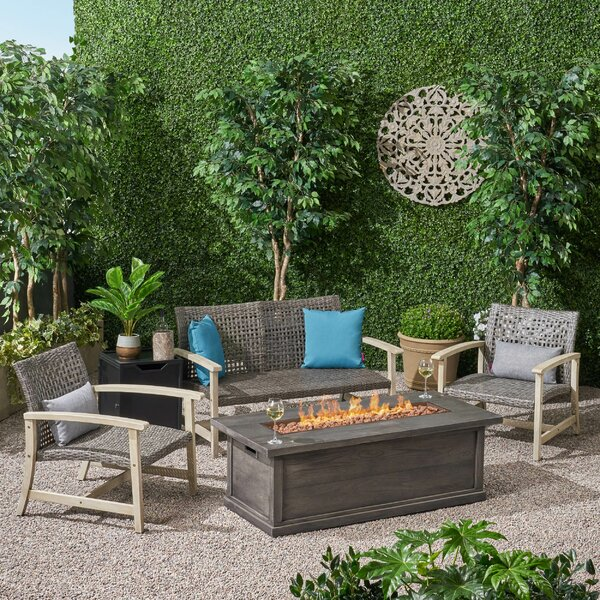 Padgett 5 Piece Sofa Seating Group by Bayou Breeze